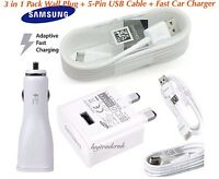 Samsung Galaxy S8/S9/Plus Note8 3 in1 Fast Wall Plug/Fast Cable/Fast Car Charger