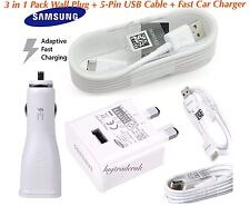 3 in 1 Samsung Galaxy S8/S9/Plus Fast Charge Wall Plug +Cable +Fast Car Charger*