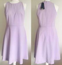 £138 🌿BANANA REPUBLIC Lilac Fine 52% Wool Lined Dress 8US / 10 UK