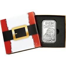 2017 Merry Christmas Jolly Santa Face 1oz .999 Silver Bar (Santa Box)
