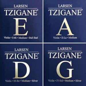 Larsen Tzigane 4/4 Geige Saiten SATZ, E-Karbonstahl-Kugel, Violin strings