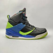 Nike  Air Jordan Flight 45 High BEL-AIR 11.5 LIGHTLY WORN Neon Green /Blue/Black