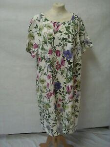 Bnwt Braintree Botanischer Blumenmuster Tunika Kleid ~ fit UK 18 ~