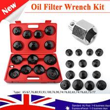 AU SHIP 15PCS Universal Oil Filter Wrench Set Metal Cap Socket Removal Tool Kit