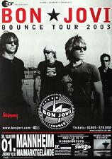 Original Konzertplakat  Bon Jovi 1.Juni 2003 Mannheim Maimarkt Gelände