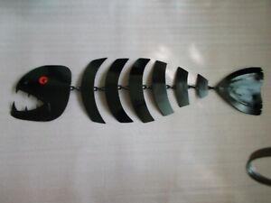 "Abstraction ""FISH TROUT"" metal.Wall sculpture"