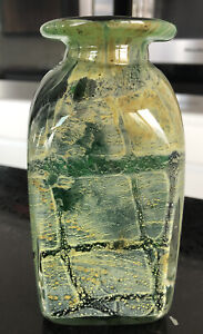 Malta Art Glass Studio Vase Heavy