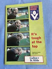 VFL Football Record 1982 Carlton V St Kilda