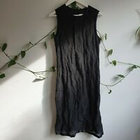 Country Road Vintage 90s Y2K Black Sparkly Rose Mesh Overlay Midi Maxi Dress M