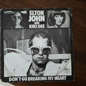 Elton John And Kiki Dee 45 Giri - Don't Go Breaking My Heart / Snow Queen