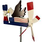 USA Eagle with Flag Whirligig Patriotic Wind Spinner Handmade