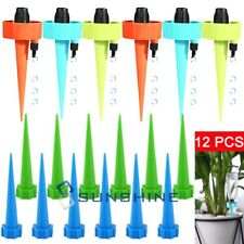 12Pcs Garden Plants Self Water Drip Automatic Watering Spikes Device Irrigation