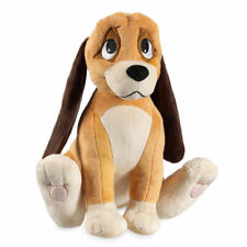 """DISNEY STORE FOX AND THE HOUND COPPER MED PLUSH 12 1/2"""" H SOFT FLOPPY EARS NWT"""