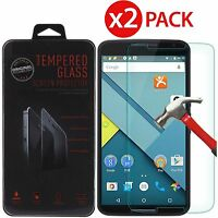 2-Pack Premium Tempered Glass Screen Protector for Motorola Google Nexus 6