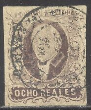 MEXICO #5a Used - 1856 8r Violet