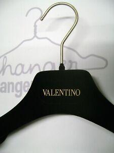 """VALENTINO BLACK VELVET FELT 14 1/2"""" -15"""" SUIT HANGERS SET 8"""