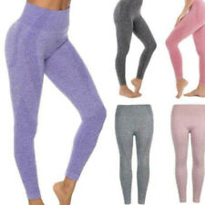 Ladies Womens Gym High Waist Seamless Yoga Pants Fitness Jogging Sports Leggings