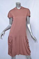 CALVIN KLEIN COLLECTION Dropped Waist Short Sleeve Draped Shirt Dress 2-38 NEW
