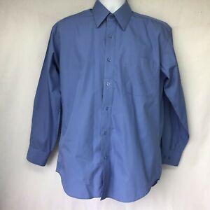 Modena Blue Houndstooth Spread Collar Dress Shirt