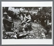 Josef Koudelka Ltd. Ed Photo Print 30x35 Lourdes, France 1973 Boy Kiss Sculptur