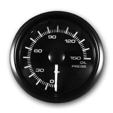 "MOTOR METER RACING Electronic Oil Pressure Gauge PSI 2"" LED Backlit White Amber"