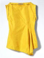 NWOT Banana Republic Heritage Asymmetrical Blouse Golden foliage Color Sz 8