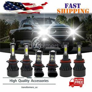 For 2015-2019 Ford F-150 6000K LED Headlight Hi/Lo + Fog Light Bulbs Combo 6x