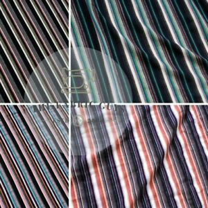 Premium Stretch Cotton Stripe Jersey, 95% Cotton 5% Spandex, 240GSM