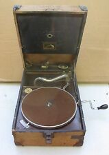 Antique Gramophone Model 101 Record Player His Masters Voice Works needs restore