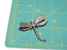 Sterling Silver Dragonfly Insect Brooch Pin d 52