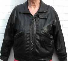 Heavy Quality Branded Leather Bomber Jacket Vintage 1980's–Medium-Free Delivery