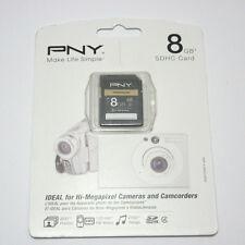 PNY 8G SDHC SD card for Panasonic Lumix DMC-FH2 FH25 FH5 FP5 FX78 FZ47 camera