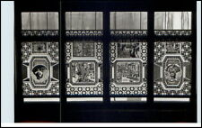 DDR Postkarte ANNABERG-BUCHHOLZ Erzgebirge Festhalle Bleiglasfenster im Saal