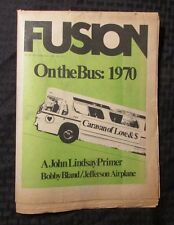 1970 Fusion #45 Music Culture Newspaper Vg Jefferson Airplane