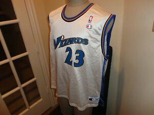 Vtg Authentic Champion Washington Wizards #23 Michael Jordan NBA Jersey Adult 44