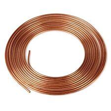 """1/4"""" Copper Brake Pipe. Brake line. 1metre -> 7.5 Metre. Seamless. 22 Gauge."""