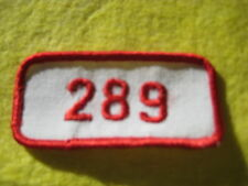 """Vintage Ford 289 Engine Red White Uniform Patch 3""""X1 1/4"""""""