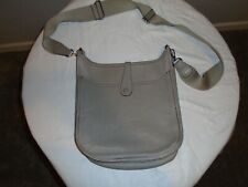 Authentic Hermes Taupe Evelyne II GM Shoulder Bag