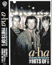 a-ha ‎Headlines And Deadlines The Hits Of A-Ha CASSETTE ALBUM New Wave Synth-pop