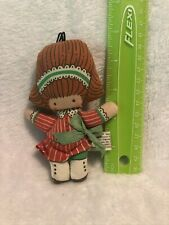 Joan Walsh Anglund Cloth Doll Ornament Circa 1970s Toy < 2� Tall