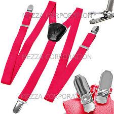 New in box Kid's Boy's Vesuvio Napoli Suspenders Braces clip on party hot pink