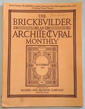 THE BRICKBUILDER AN ARCHITECTURAL MONTHLY - NOV. 1913 - ROGERS & MANSON CO.