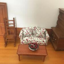 1:12 Dollhouse Miniature Furniture Decoration White Tea Table Sofa Ma SN