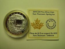 2015 Proof $20 Tom Thomson Spring Ice Canada COIN&COA ONLY .9999 silver twenty