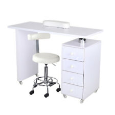 More details for manicure table nail technician desks beauty station white 3/4 drawers or wheeled