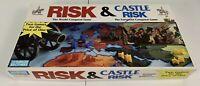 "Vintage ""Risk and Castle Risk"" Board Game by Parker Bros - 1990 Ed - Complete"