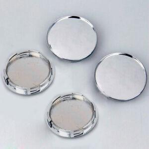 4x 68mm Chrome Car Wheel Hub Center Cap Set No Logo Dust Covers Car Accessories