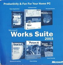 Microsoft Works Suite 2003 5 Discs Photo Editing Research Finance & More