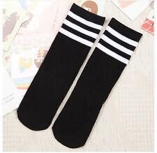 Baby Boys Girls Toddler Kids Knee High Length Cotton Stripes School Sport Socks