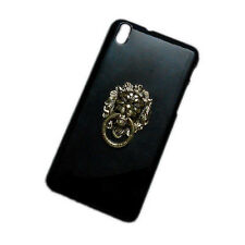 For HTC Desire 816 Bronze Metal Lion Head Ring Holder Stand Hard Back Case Cover